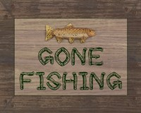 Gone Fishing Sign Fine Art Print
