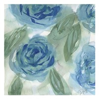 Blue Green Roses I Fine Art Print
