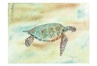 Crystal Tone Sea Turtle Fine Art Print