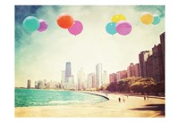 Chicago Balloons Over the City Fine Art Print