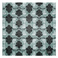 Teal Damask 1 Framed Print