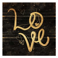 Love Gold Fine Art Print
