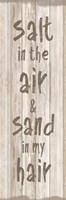 Salt Sand Framed Print
