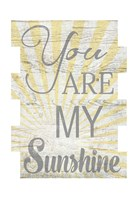 You Are My Sunshine 2 Framed Print