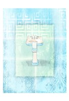 Soft Blue Sink Framed Print