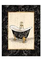 Black Gold Bath Framed Print