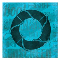 Summer  Bright Lifesaver Fine Art Print