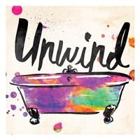 Unwind Colorful Bath Framed Print
