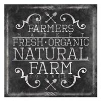 Farmers Market Chalkboard Fine Art Print