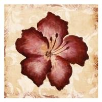 Red Flower Mate Framed Print