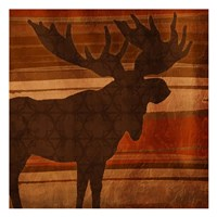 Moose Stripes Mate Framed Print