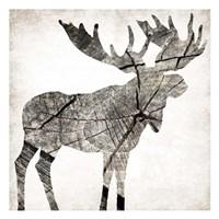 Wood Moose Framed Print