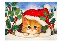 Christmas Kitten Fine Art Print