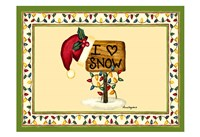 I love Snow Fine Art Print