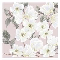 White Flower on Nude 2 Fine Art Print