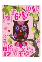 Owl Set Numlet Pinks 2 Framed Print