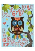 Owl Set Numlet 2 Framed Print