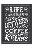 Chalk Coffee Wine Framed Print