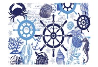Nautical Set Blues 2 Framed Print