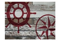 Coastal Nautical 02 Framed Print