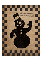 Burlap Christmas 2 Framed Print