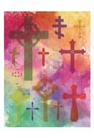 Watercolor Cross 1 Framed Print