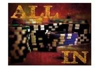 All In Casino Grunge 4 Fine Art Print