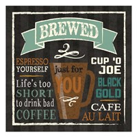 Brew Chalk 2 Framed Print