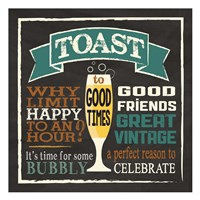 Toast Chalk 1 Framed Print