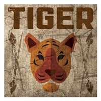 Safari Set 4 Tiger Framed Print