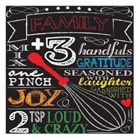 Family Plus Three Fine Art Print