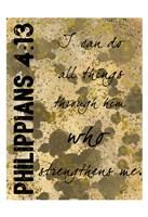 Philippians Strength Fine Art Print