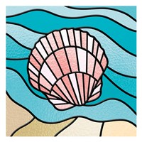 Seashell Stained Glass Framed Print