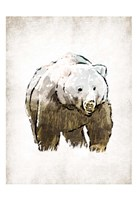 Butch in Forest Framed Print