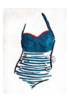 Vintage Swimsuit One Framed Print