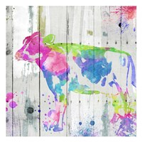 Cow Colorful Framed Print