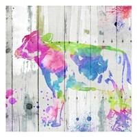 Cow Colorful Fine Art Print