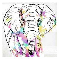 Elephant Head Colorful Fine Art Print