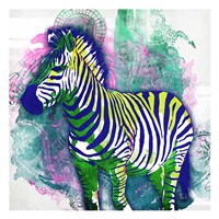 Zebra Henna Framed Print