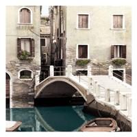 Teal Venice Framed Print