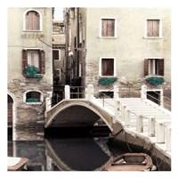 Teal Venice II Framed Print