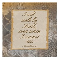 Walk In Faith Framed Print