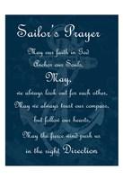 Sailor's Prayer 2 Framed Print