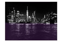 New York City Purple Rain Fine Art Print
