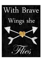 Brave Wings Framed Print