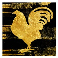 Gold Rush Rooster Framed Print