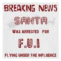 Santa's FUI Framed Print