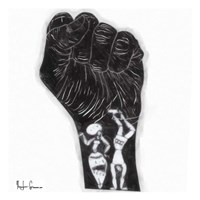 Black Fist Fine Art Print