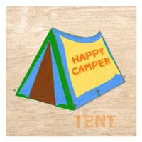 Happy Camper Tent Framed Print