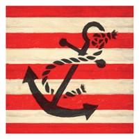 Anchor Stripe Fine Art Print